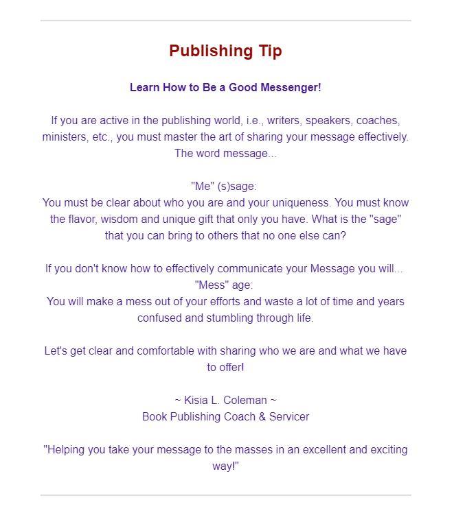 Publishing Tip 11-9-17